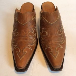 Angel Ranch Western Leather Mules